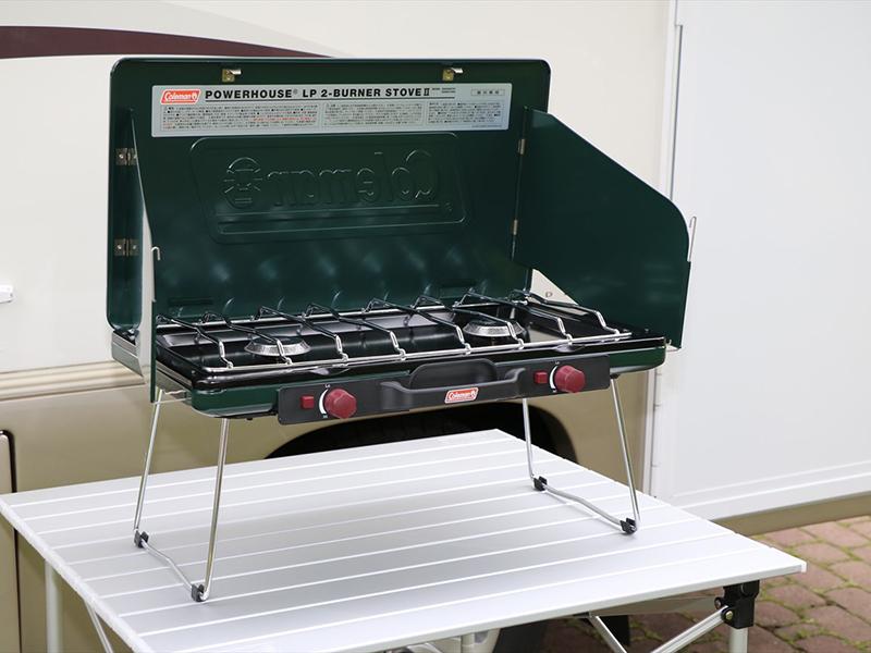 屋外用ツーバーナー(風よけ付き) ボンベ2本付き 1500円