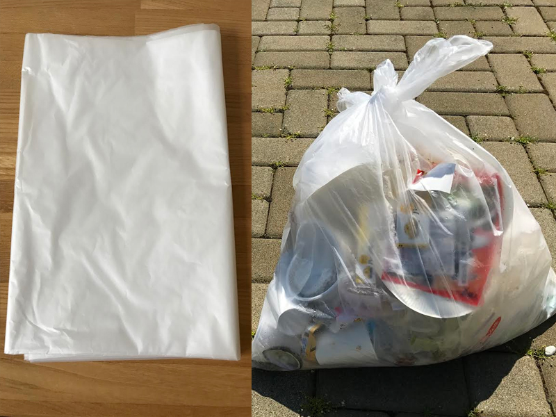 Free garbage bag collection ( You have to separate it into Burnable, Glass bottle, Can and PET bottle )